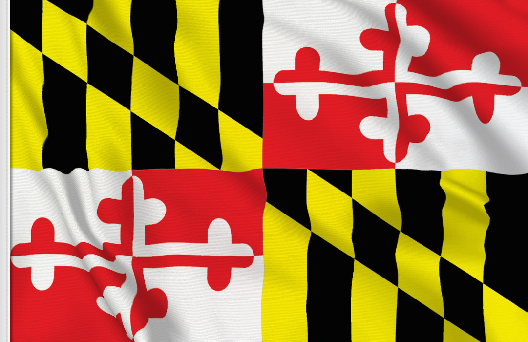 Flag sticker of Maryland
