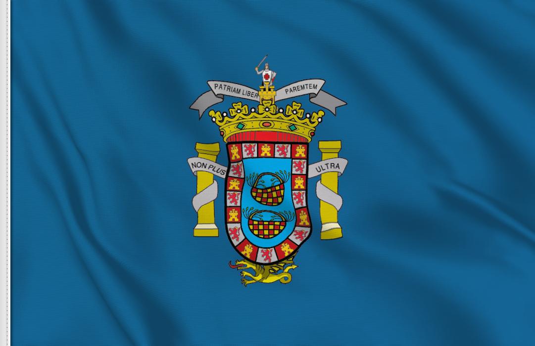 Flag sticker of Melilla
