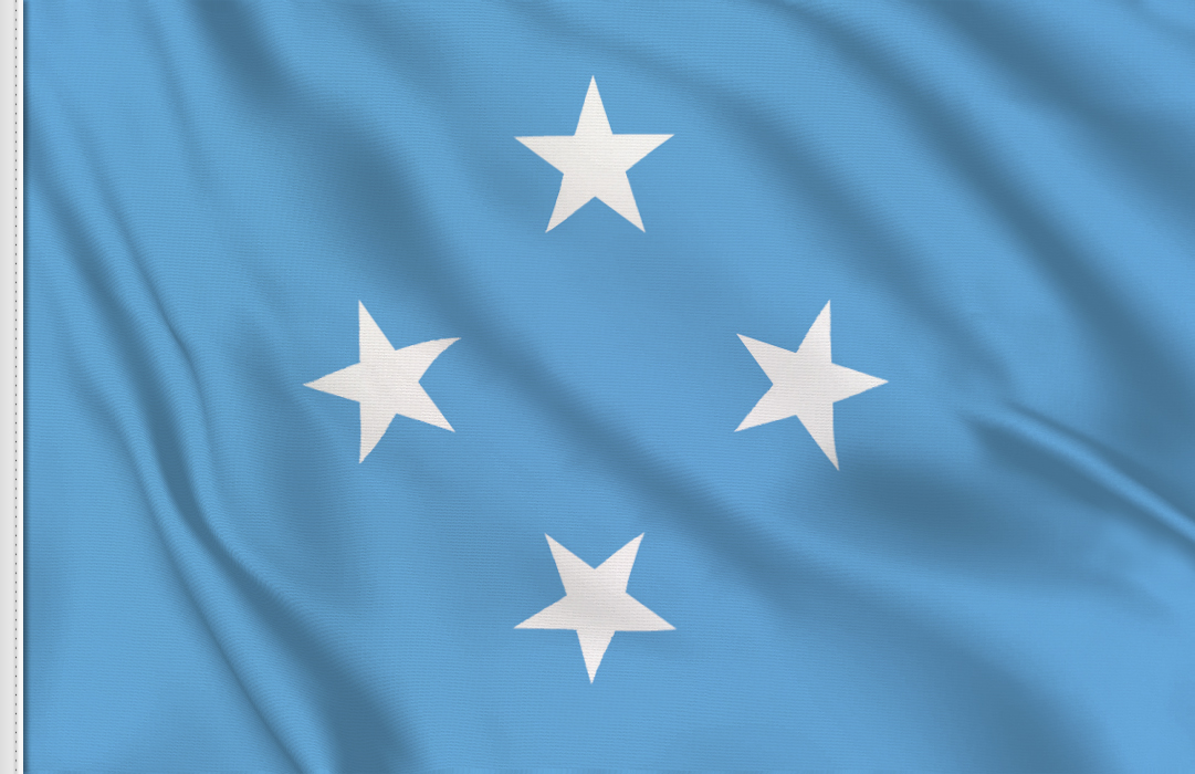Flag sticker of Micronesia