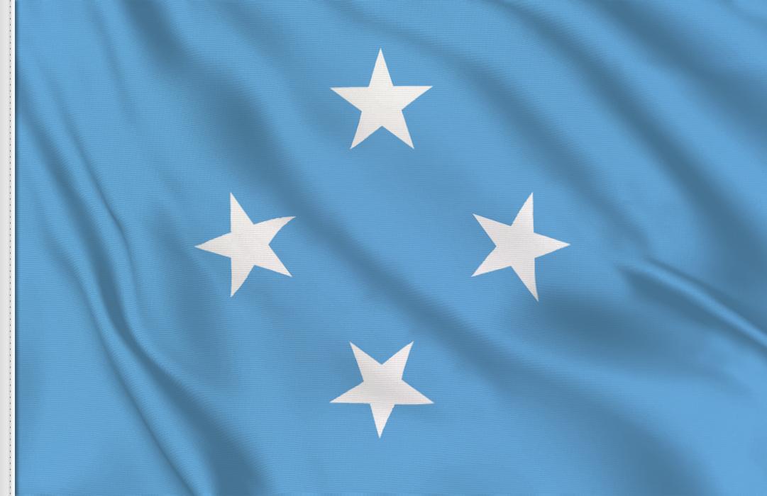 drapeau adhésif du Micronesie
