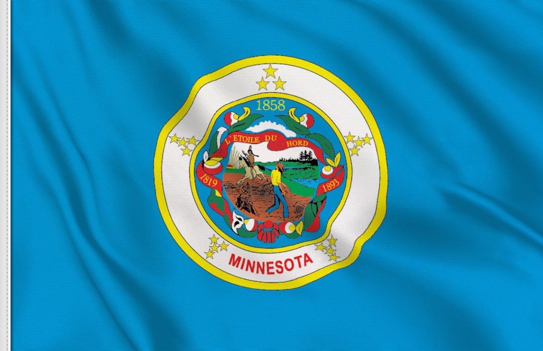 Flag sticker of Minnesota
