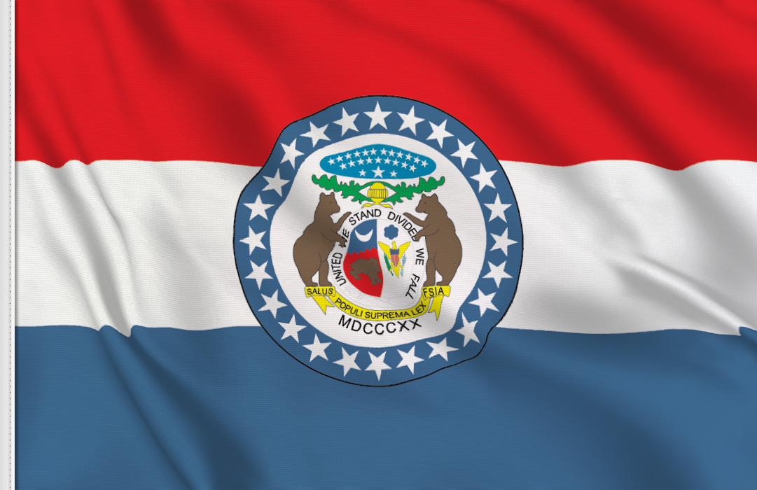 Flag sticker of Missouri