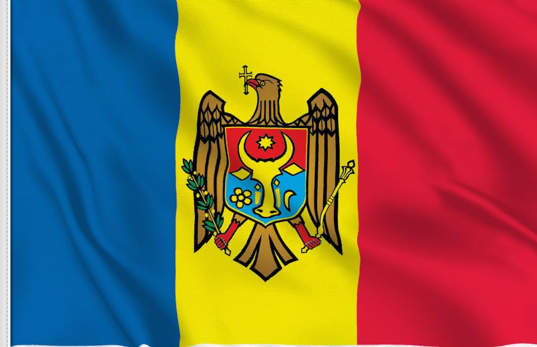bandera adhesiva de Moldavia