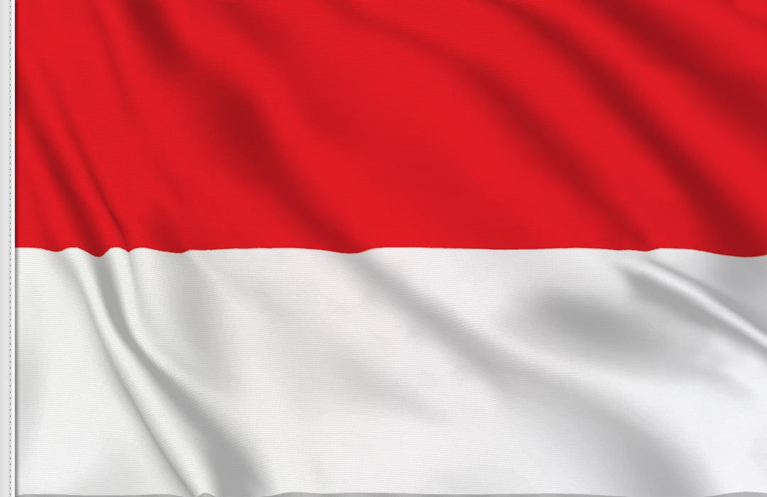 bandera adhesiva de Monaco