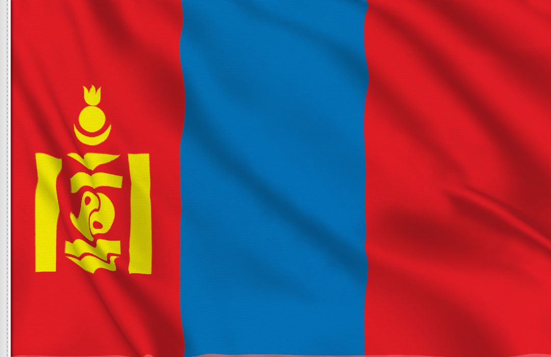 Flag sticker of Mongolia