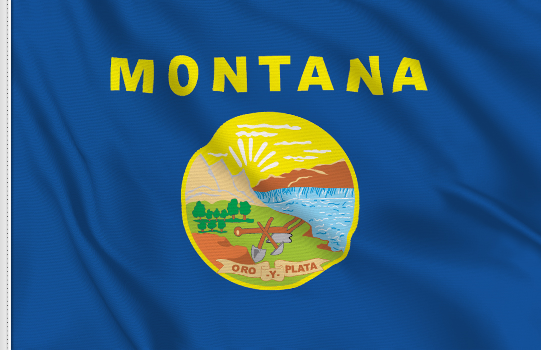 flag sticker of Montana