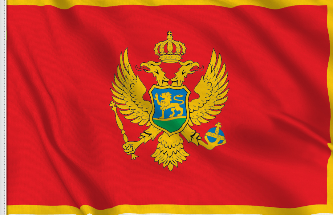 flag sticker of Montenegro
