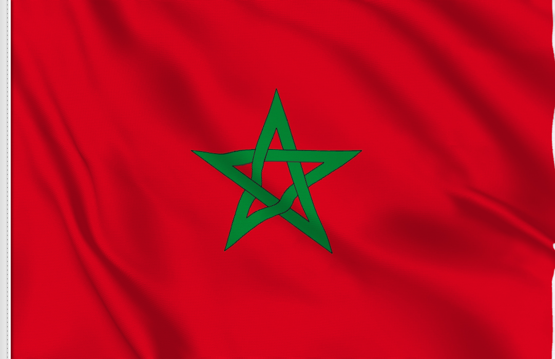 flag sticker of Morocco