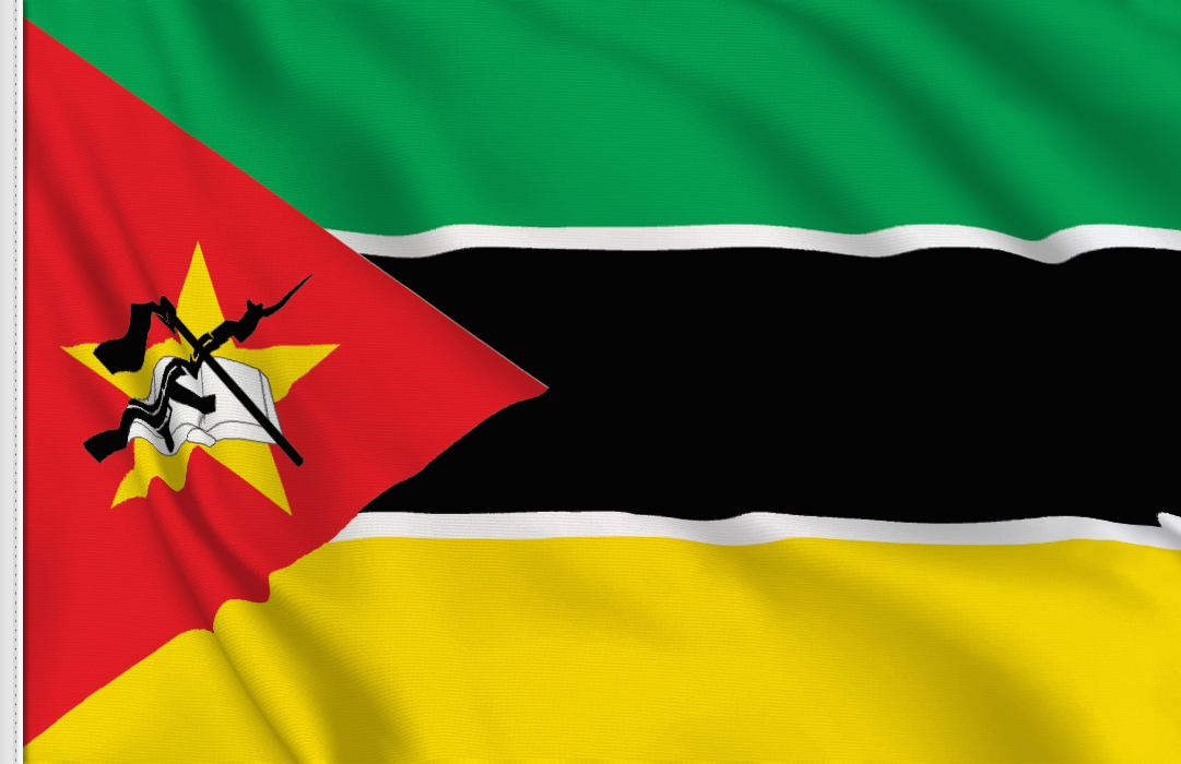 flag sticker of Mozambique
