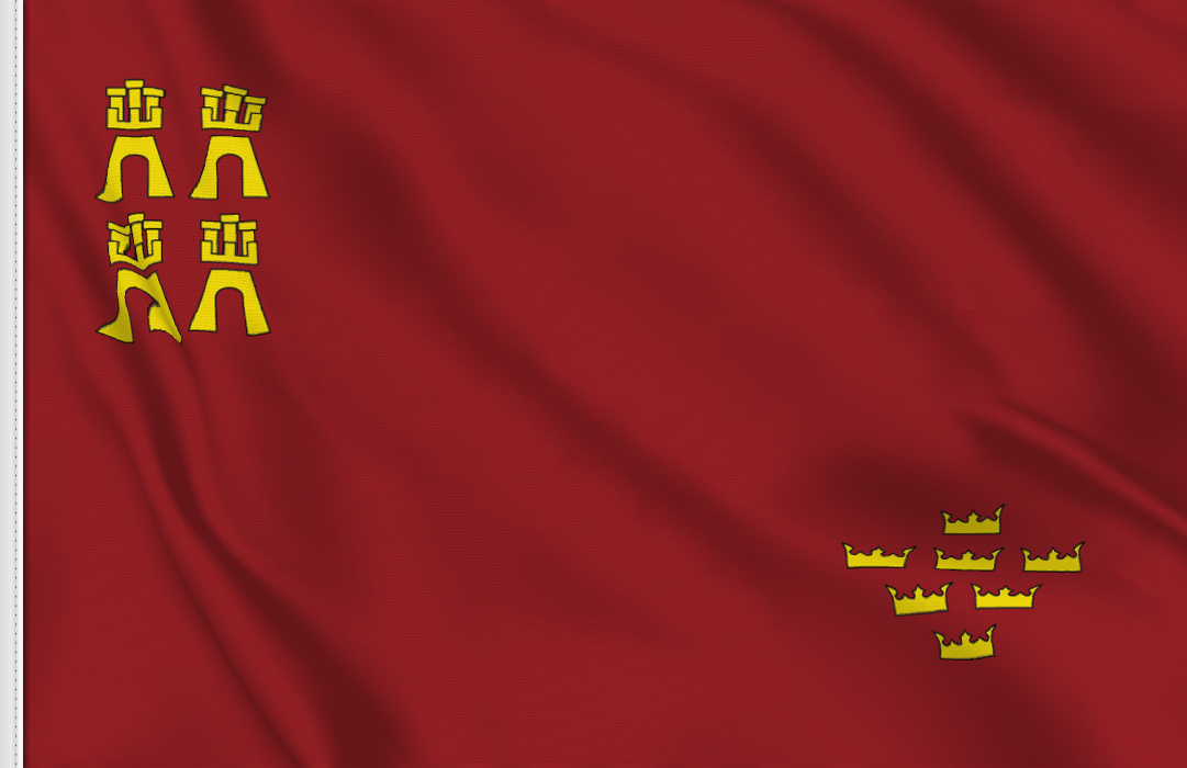 Flag sticker of Murcia