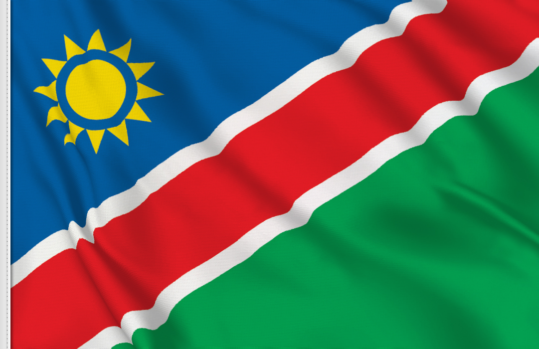drapeau adhésif du Namibie