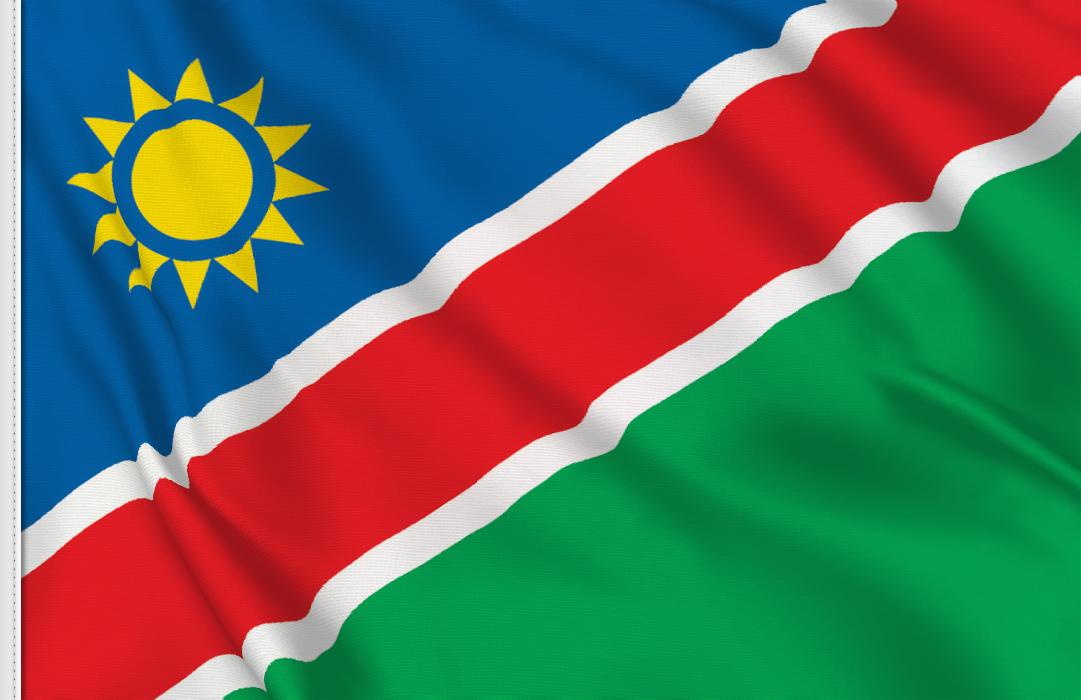 flag sticker of Namibia