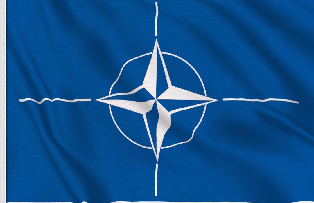 Nato aufkleber fahne