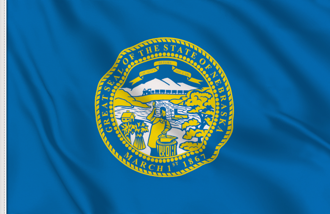 Flag sticker of Nebraska