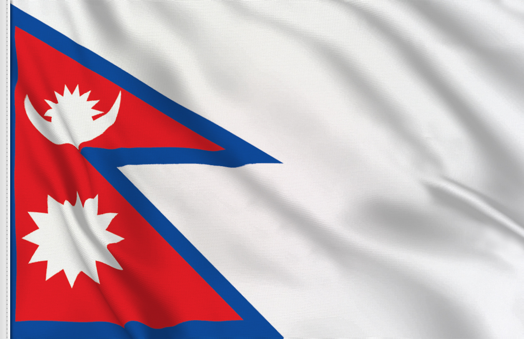 Nepal Flag in Space Nepal Flag