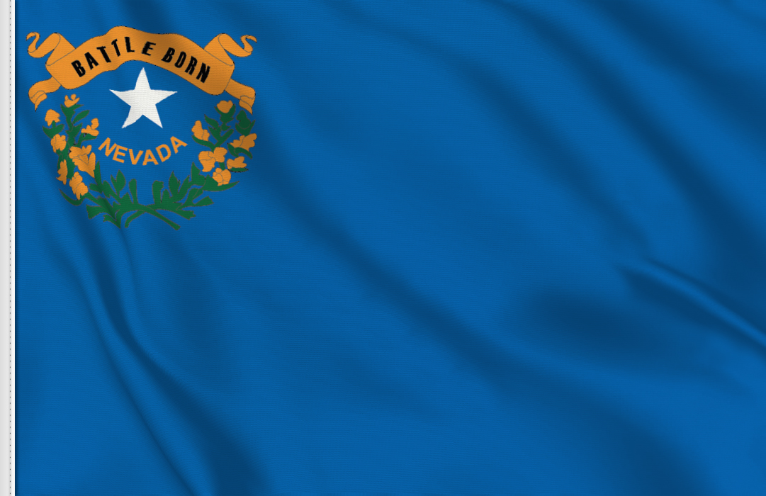 flag sticker of Nevada