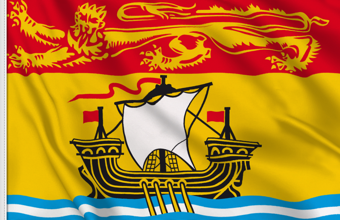 Flag sticker of New Brunswick