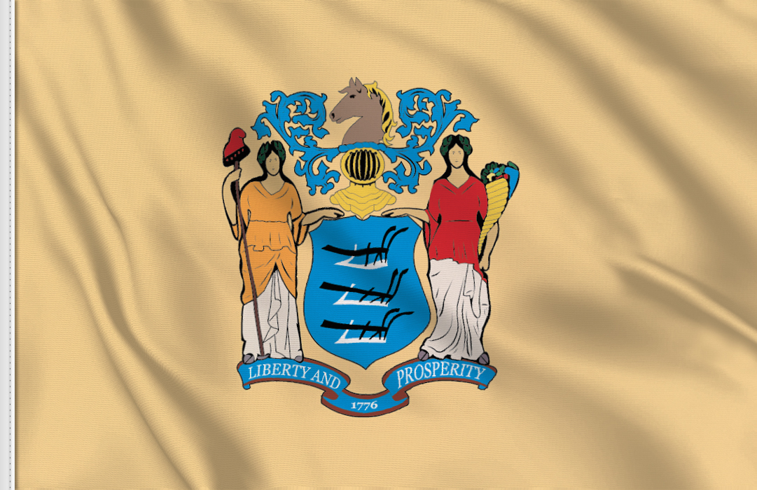 Flag sticker of New-Jersey