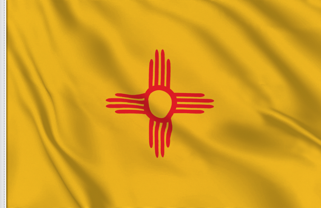 Flag sticker of New-Mexico