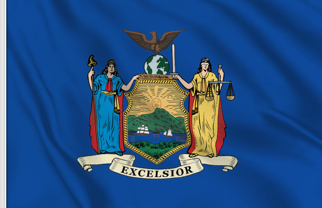 Flag sticker of New-York