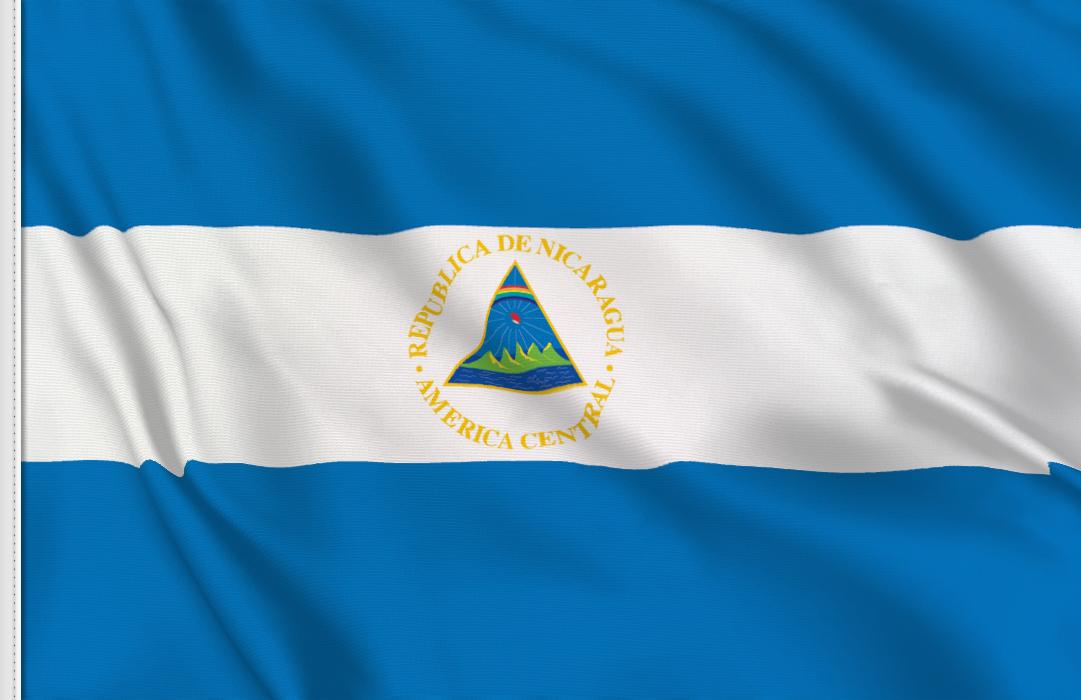 Flag sticker of Nicaragua