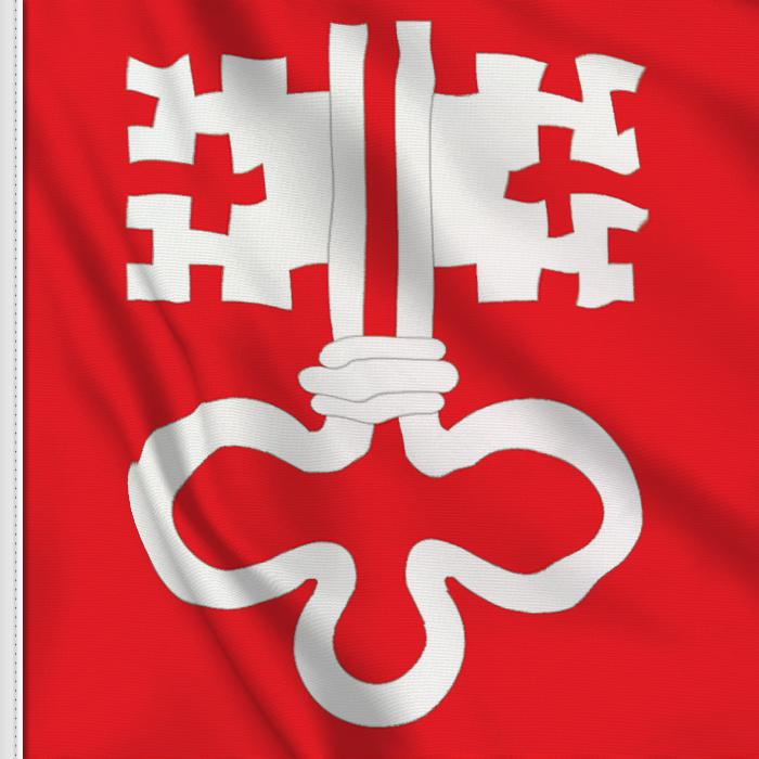 flag sticker of Nidwalden