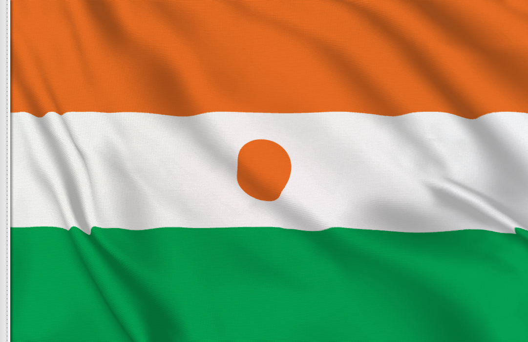 Niger flag stickers