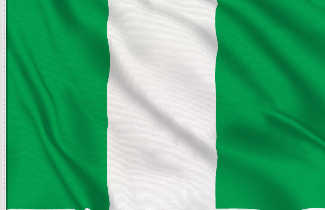 flag sticker of Nigeria