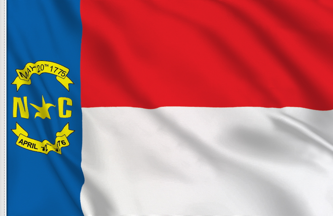 bandera adhesiva de North-Carolina