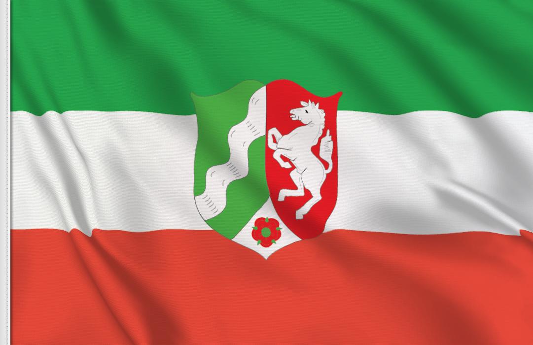 fahne Nordrhein-Westfalen, flagge von Nordrhein-Westfalen