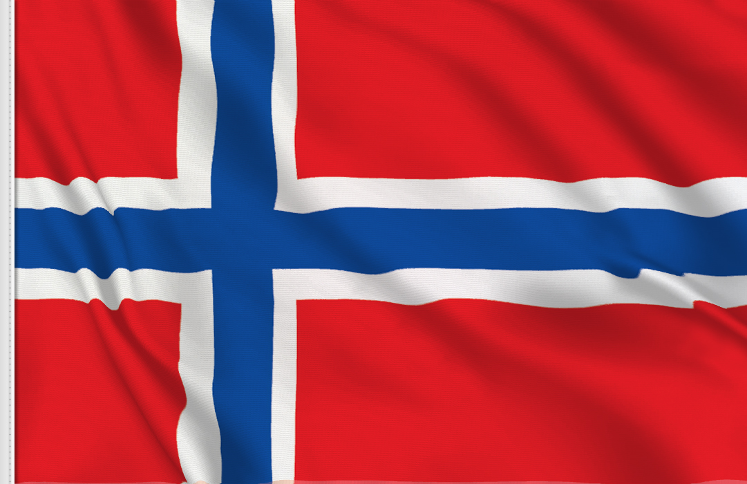 flag sticker of Norway