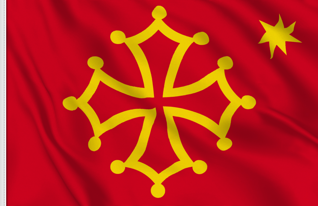 fahne Okzitanien, flagge von Okzitanien