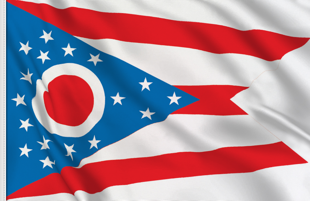 Flag sticker of Ohio