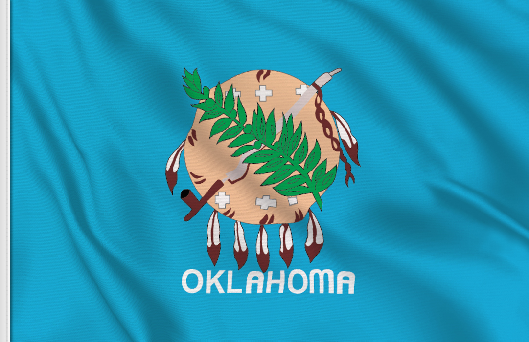 Flag sticker of Oklahoma
