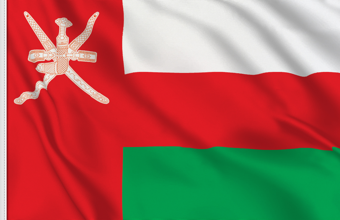 flag sticker of Oman