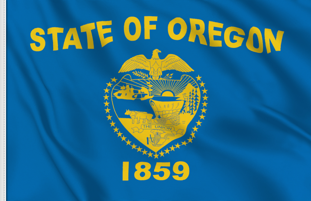 flag sticker of Oregon