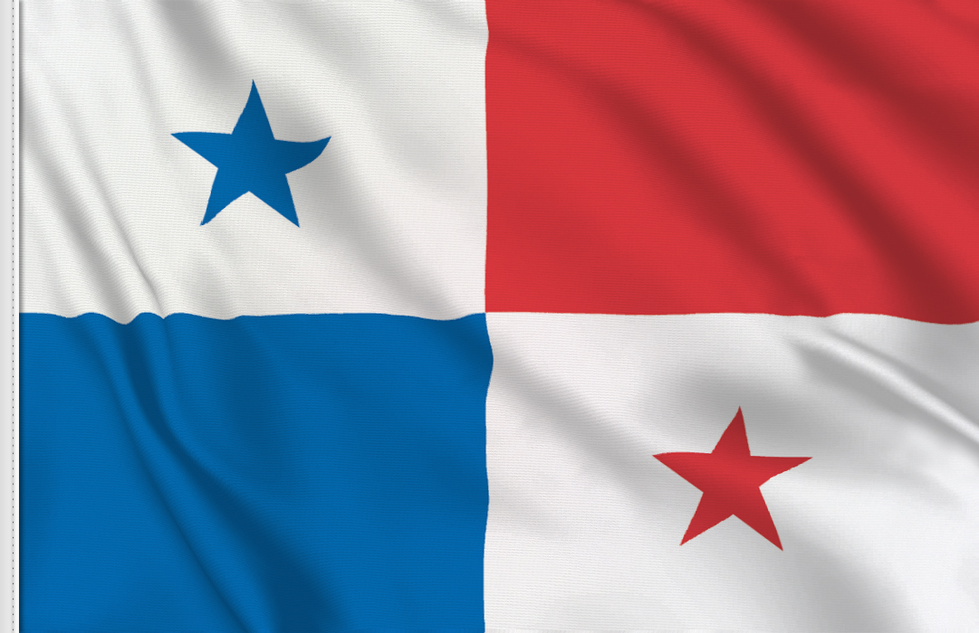 flag sticker of Panama