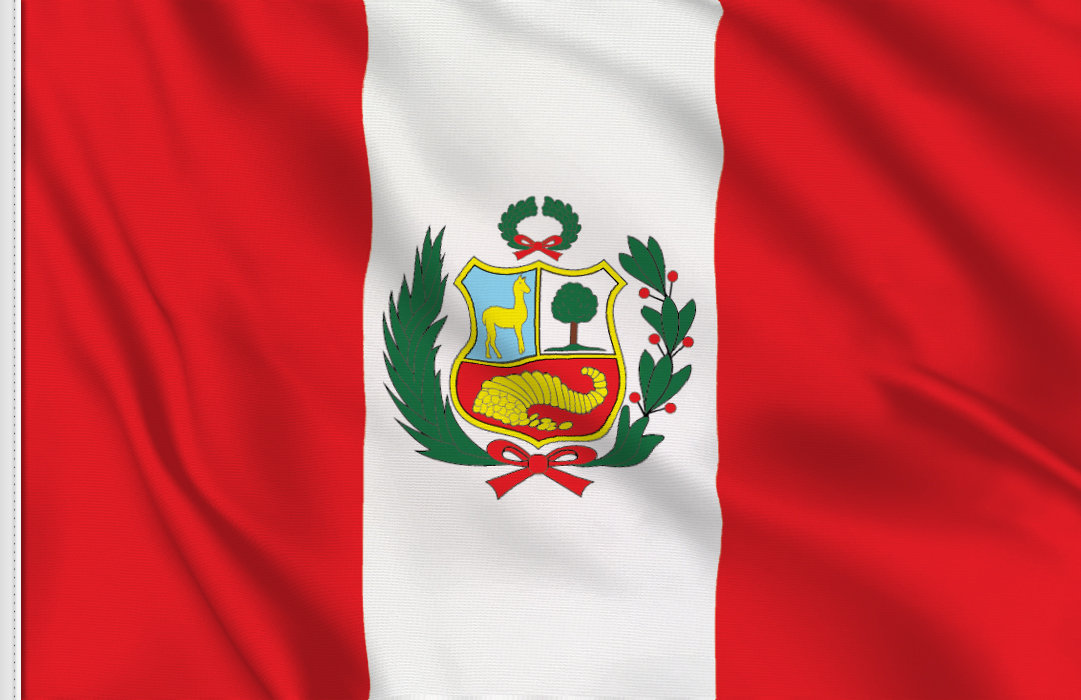 Peru Lux table flag