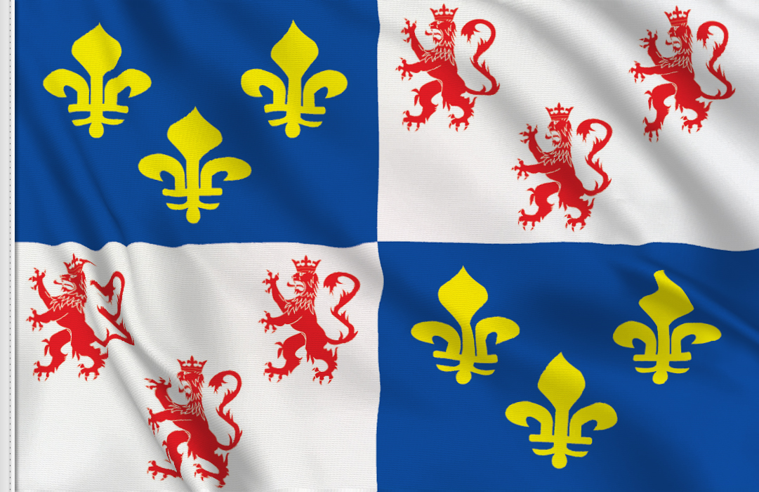 Flag sticker of Picardie
