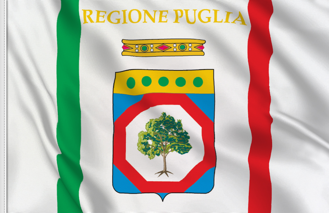 Puglia table flag
