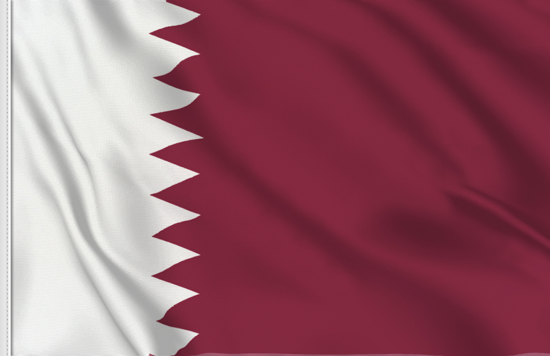 Flag sticker of Qatar