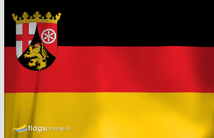 Rheinland-Pfalz aufkleber fahne