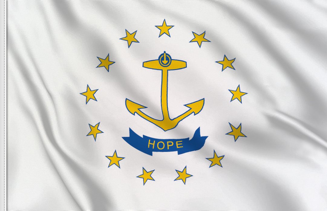 Flag sticker of Rhode-Island
