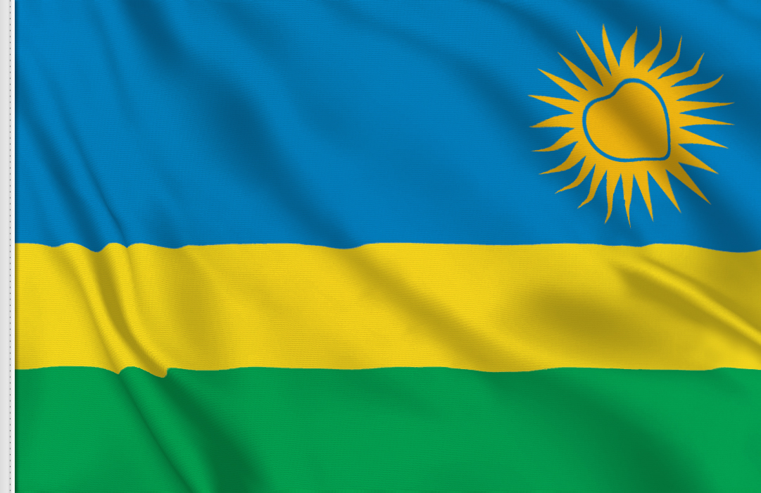 bandera adhesiva de Ruanda