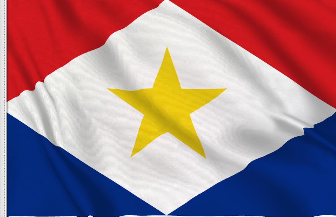 fahne Saba, flagge von Saba