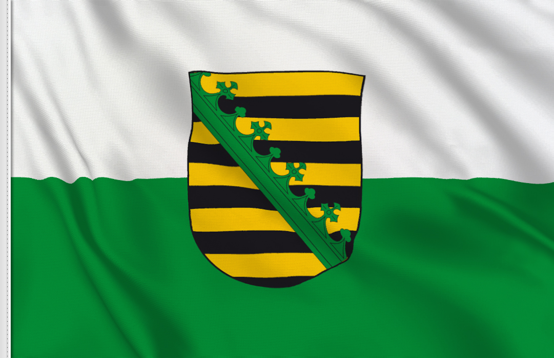 Flag sticker of Saxony