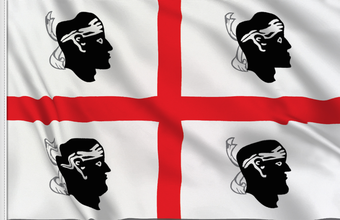 flag sticker of Sardegna