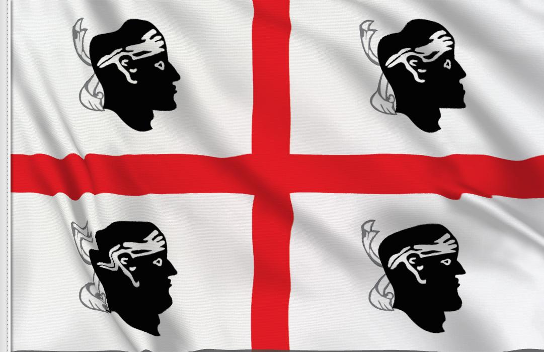 Sardinien aufkleber fahne