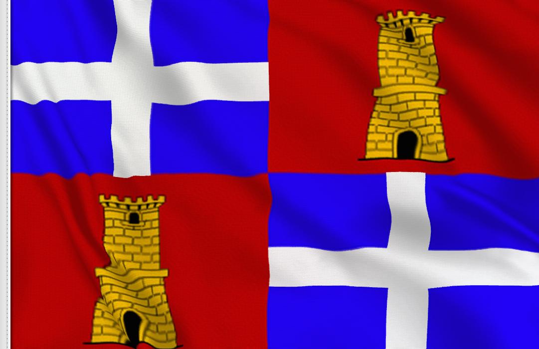 fahne Sassari-Provinz, flagge der Provinz Sassari