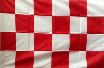 red white checkered flag